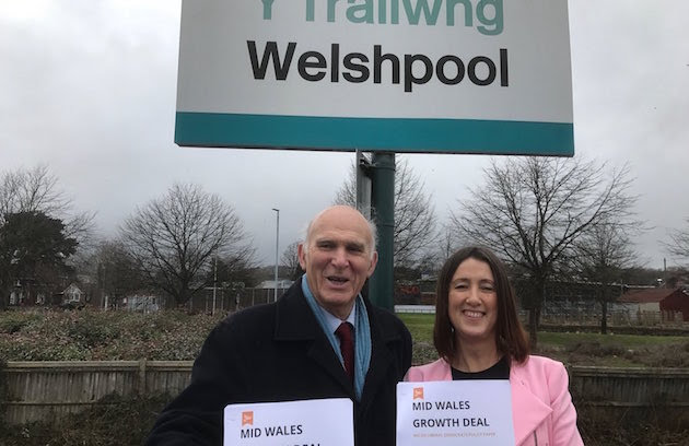 Another party leader visiting Welshpool