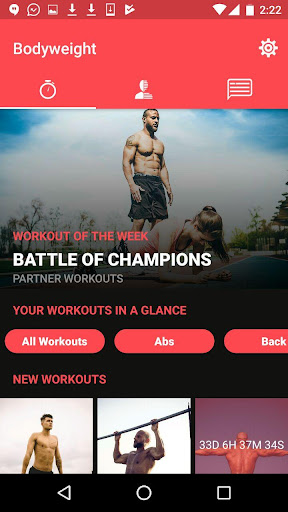Full Control Bodyweight Fitness Training & Workout screenshot 1