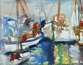 Photo: Boote in La Spezia, Ligurien, 56x76cm