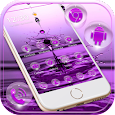 Purple Water Theme pretty water drop apk