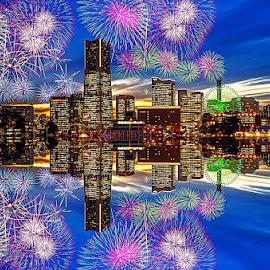 Yokohama firework by Kadek Lana - City,  Street & Park  Neighborhoods ( japan, firework yokohama, sakuragicho )
