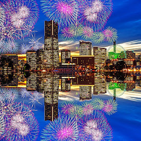 Yokohama firework by Kadek Lana - City,  Street & Park  Neighborhoods ( japan, firework yokohama, sakuragicho )