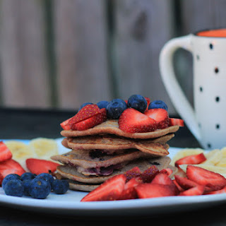 Wholemeal Blueberry Pancakes.