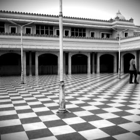 CheckMate by Naveed Dadan - Buildings & Architecture Places of Worship ( black and white, art, street, india, travel, people, portrait, man, photography, city )
