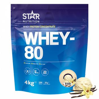 Star Nutrition Whey 80 4kg - Vanilla