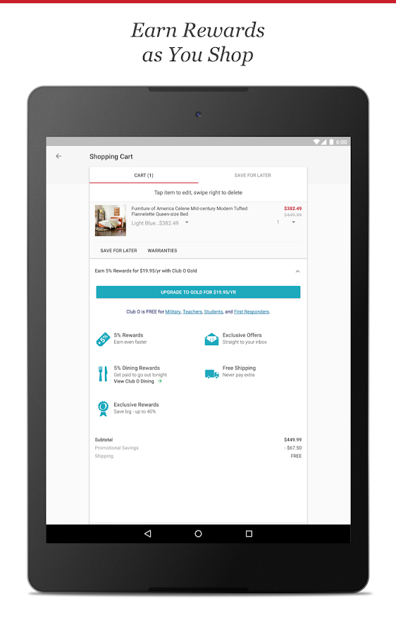 Overstock - Shopping App- screenshot