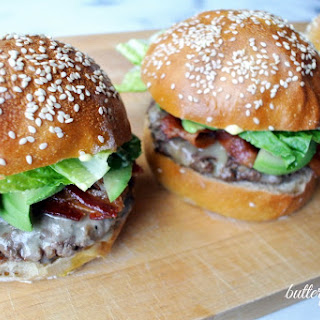 Soft And Chewy Sourdough Burger Buns.