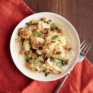 Roasted Cauliflower with Dijon Vinaigrette
