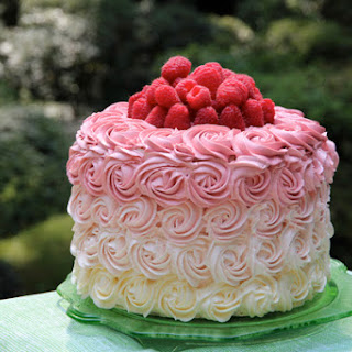 Raspberry Rose Ombré Cake
