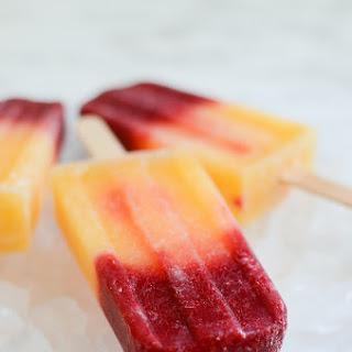 Raspberry-Peach Bellini Popsicles