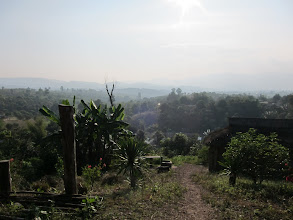 Photo: Entering the last village