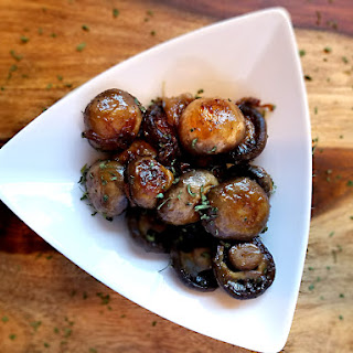 Brown Butter Garlic Mushrooms.