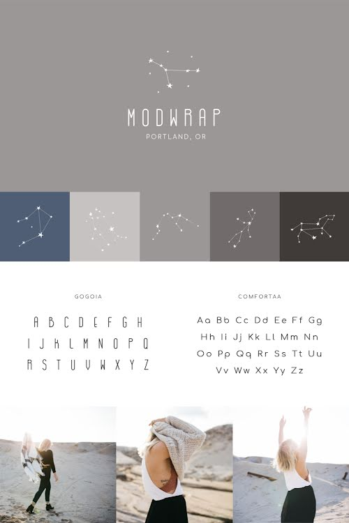 Modwrap Brand Board - Brand Board Template