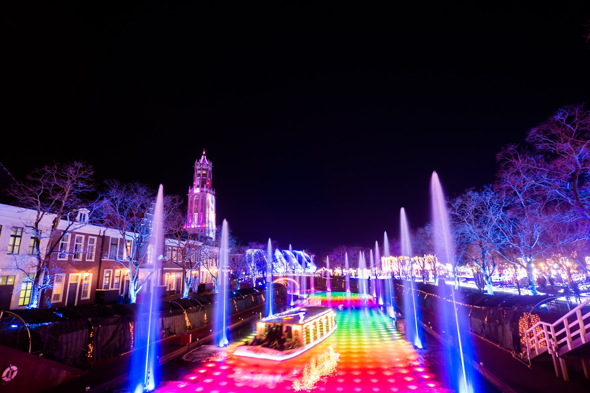 Huis Ten Bosch illumination Kingdom of light Light and Fountain Canal2