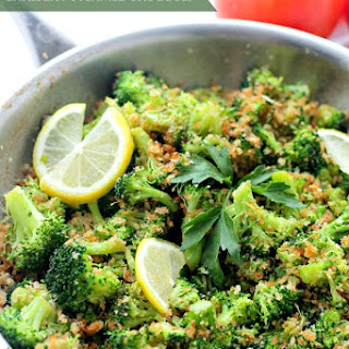Garlicky Steamed Broccoli.