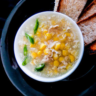 30 Minute Or Less Chicken Sweet Corn Soup.