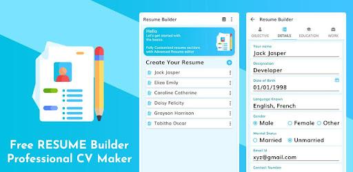 Free Resume Builder Professional Cv Maker Apps On Google Play