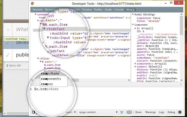 Atma.js DevTool