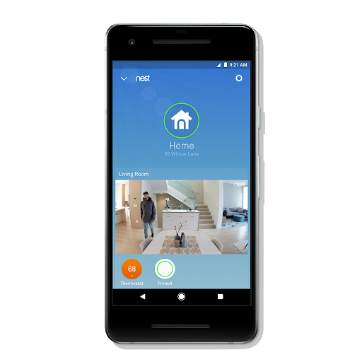 Nest app for home with Thermostat and Protect features