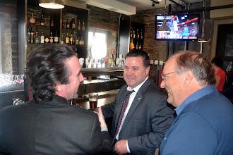 Photo: Geoffrey & Stephen Lynch with Richard Albert