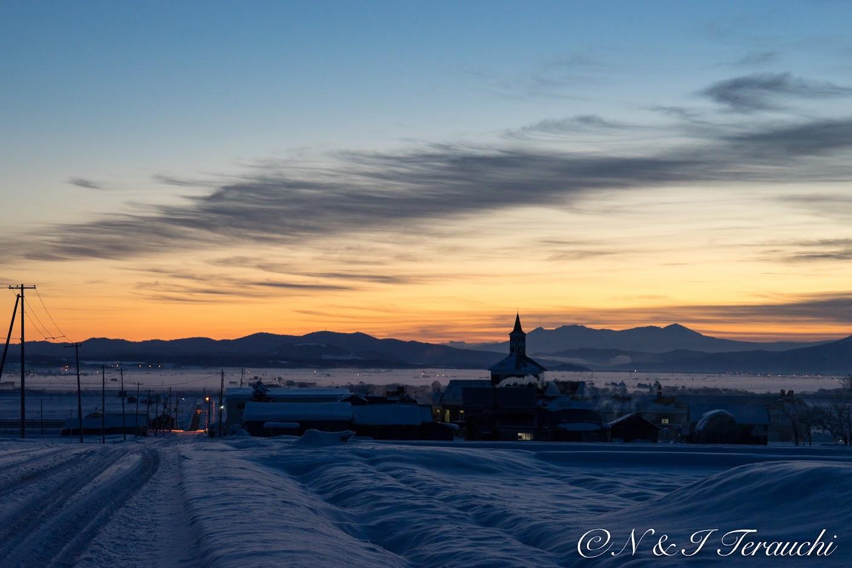 サンフラワーパーク北竜温泉・冬の早朝