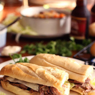 Slow Cooker Roast Beef Po-Boys