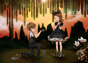 Photo: This one by Bell and Reiko (http://belliko-art.deviantart.com/) is Ghibli / Miyazaki-style! So adorable.