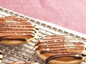Salty Salted Caramel Shortbread Cookies
