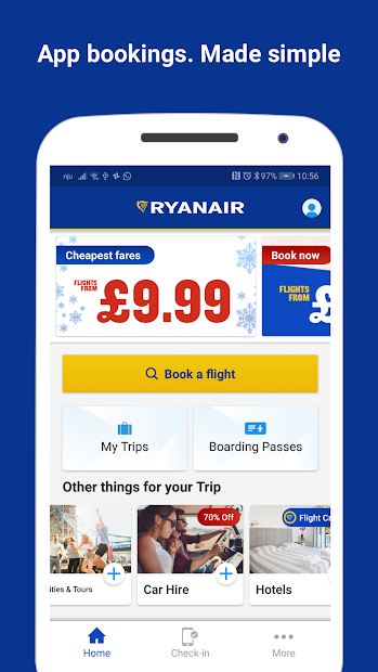 Ryanair - Cheapest Fares Android App Screenshot