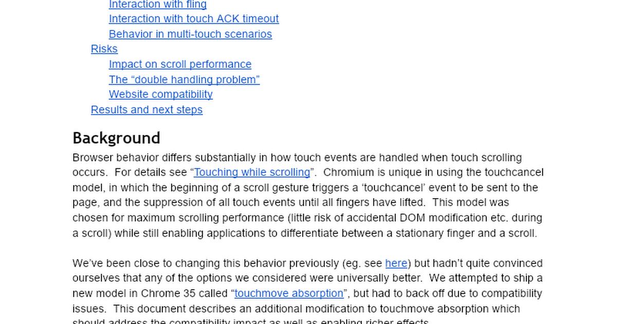 Chromium throttled async touchmove scrolling - Google Docs