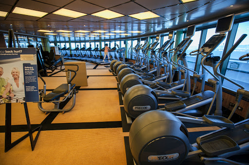 Ruby-Princess-Fitness-Center - Keep in shape at the Fitness Center aboard Ruby Princess.