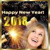 New year 2018 photo frame