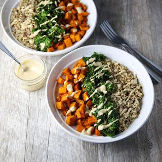 Healing Turmeric Sweet Potato Kale Quinoa Bowls Recipe