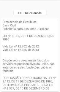 Leis do Regime Juridico Unico - náhled