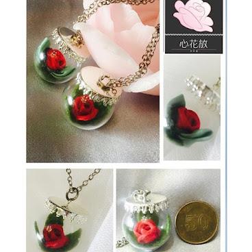 五毫子的玫瑰花頸鏈 #飾物 #頸鏈 #手作 #少女風#高貴#玫瑰花 #紅色