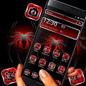 Dark Red Black Spider Launcher Theme 🕷️ icon