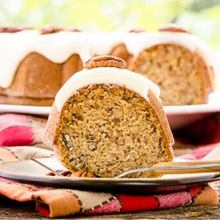Cinnamon Pecan Applesauce Bundt Cake