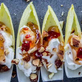 Smokey Almond Cream Cheese Endive Bites