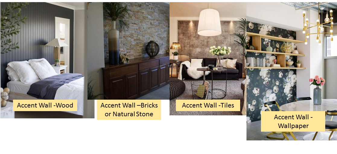 Accent wall samples