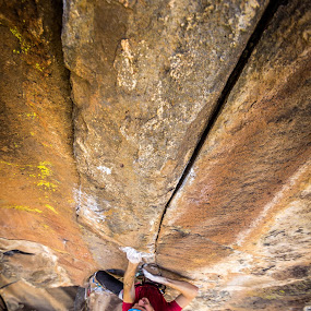 Finger Crack by Ryan Skeers - Sports & Fitness Climbing ( pinevalley, climbing, crack, jess, rock )