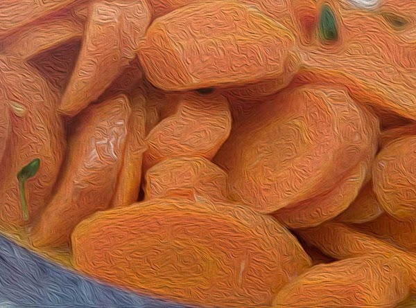 Remove onion halves, and then add the sliced carrots. Toss about until they are...