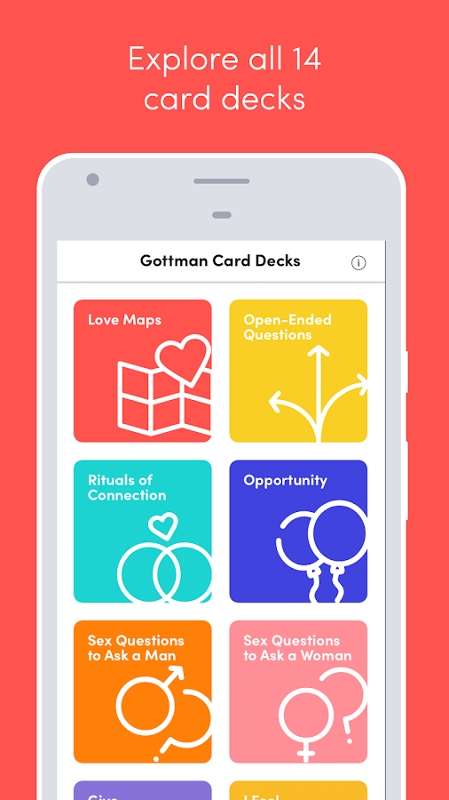 Gottman Card Decks- screenshot