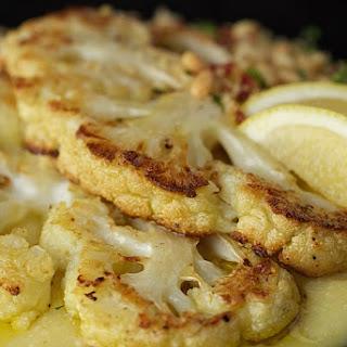 Roasted Cauliflower with Parmesan Polenta.