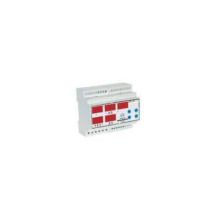 Digital multimeter, DIN-montage, 3-fas V och A, larmutgång, RS485