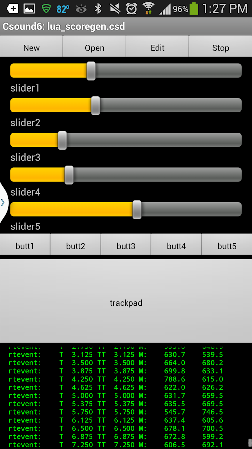 Csound for Android- screenshot