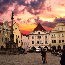 Krumlov by Michal Janda - Buildings & Architecture Public & Historical ( krumlov old architecture sun )