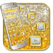 Gold Glitter Diamond Silver Theme