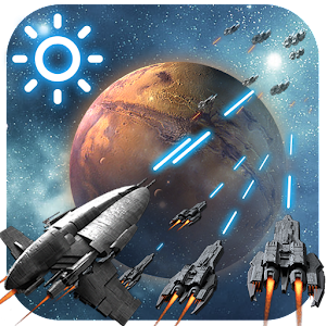 3D Space Fighting Clock Widget