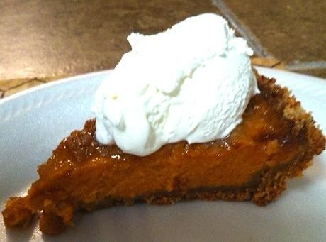 Easy Pumpkin Pie With Brown Sugar Topping Recipe