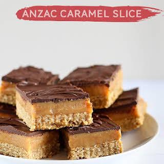 ANZAC Caramel Slice.